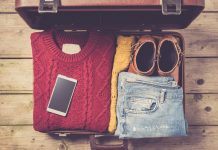 winter travel packing