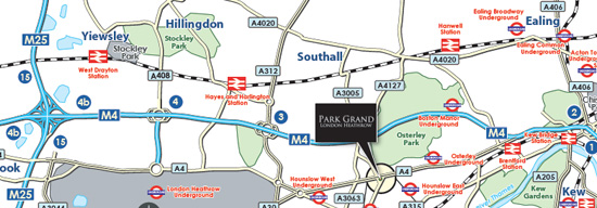 Park Grand Heathrow London Location Map